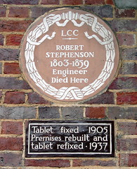 Photo of Robert Stephenson brown plaque