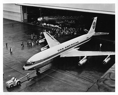 Pan Am Boeing 707 Stratoliner roll-out (aeroman3) Tags: am pan boeing 707 stratoliner