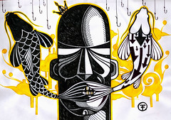 Palavras (.  F L F  .) Tags: fish art gold king strip arrow coroa rei carpa grafite anzol franciscofreitas
