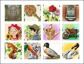 free Secret Garden slot game symbols