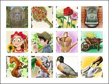 free Secret Garden slot game symbols