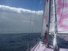 EPL sailing under a line of cloud (Jessica_Watson) Tags: world old out person sailing jessica year solo watson be sail around 16 non setting youngest unassisted jessicawatson nonunassisted