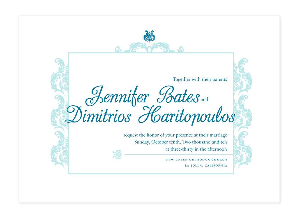 Jenn Bates, Wedding Invite Proofs Option 2