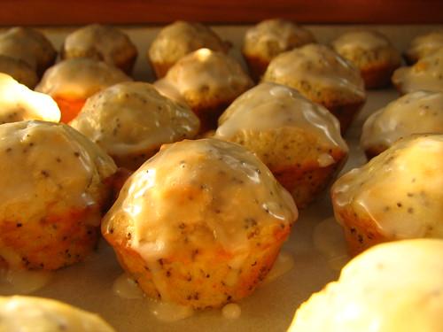 glazed mini muffins