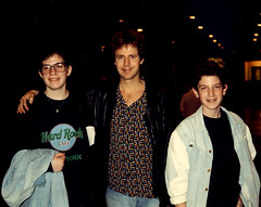 Dana Carvey, my brother John & me at SNL (1990)
