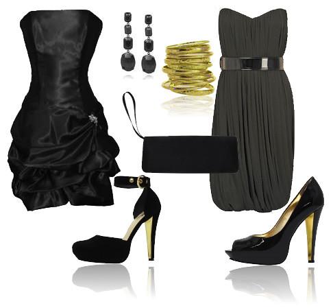 vestido balone preto