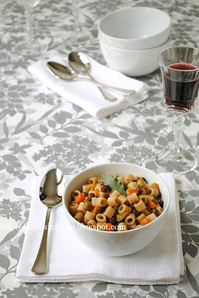 Pasta e Ceci Neri-Pasta with Black Chickpeas