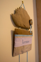 IMG_1838 (VaBoDesign) Tags: blue baby brown nature diy beige handmade linen stripes sew pillow cotton ribbon hedgehog sewingmachine homedecor skyblue embrodery vabo