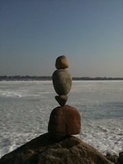 balanced rocks lake harriet