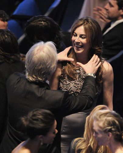 James Cameron congratulates Kathryn Bigelow on her winning six Oscars, the most for any film in 2010