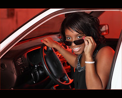 Latashia ~ Senior ~ Chilling in her Car (~Phamster~) Tags: canon seniorphotography gel speedlight vagabond 85l plm 64 from paul c buff