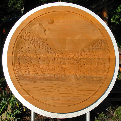Lions Bay Relief Carving Squircle