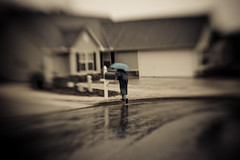 Day 68 | Miss Beverly Checks the Mail in the Rain