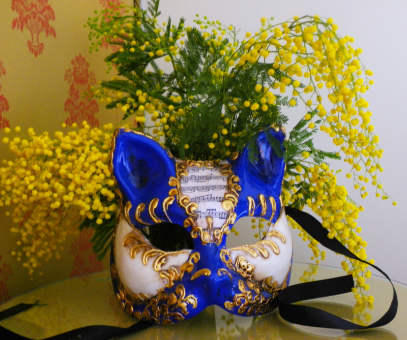 Carnival Mask & Flowers