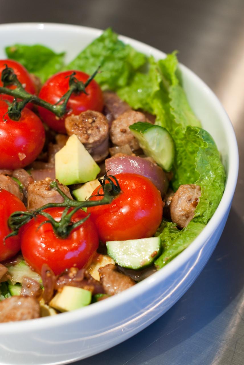 Sizzling Sausage Salad