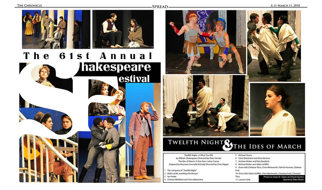 Hofstra Shakespeare Festival Spread