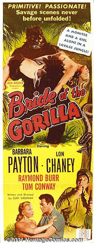BRIDE OF THE GORILLA (1951) Insert