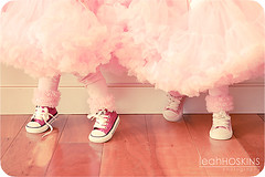 .just dance. (*miss*leah*) Tags: birthday pink girls feet twins nikon girly converse happybirthday 1stbirthday chucktaylor petti cutefeet kaiyaeve nikond700 pettiskirts leahhoskins