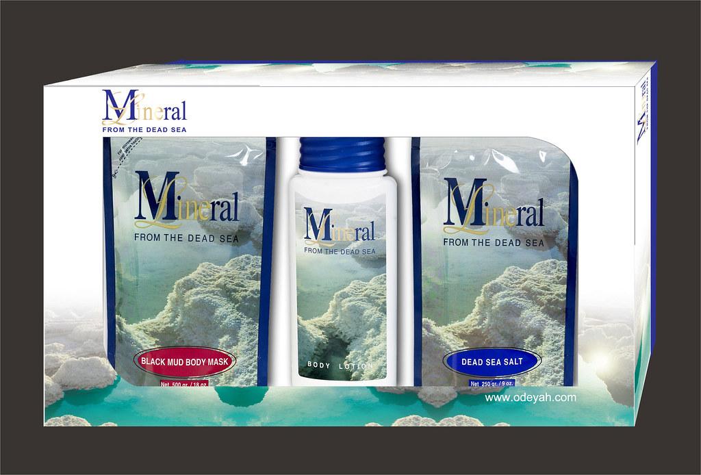 Genuine Dead Sea Bath Salt + Black Mud Body Mask + Body Lotion.GiftSet#6