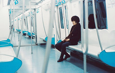 The Last Metro (Seatory) Tags: portrait film girl mood fuji minolta empty beijing railway 135 lover x700