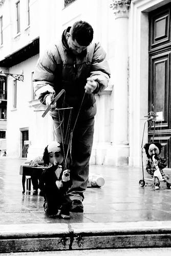 雨の中のバイオリン弾き