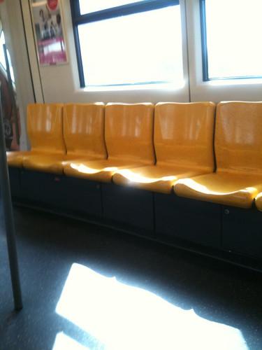 Seats on the BTS Skytrain