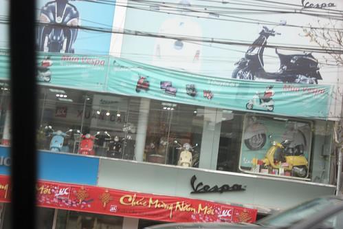 Vespa dealership in Hanoi