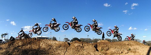 Motorcross dirt bike motocross panorama jump