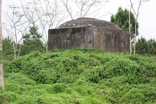 A bunker on the Perfume River occupied by Americans
