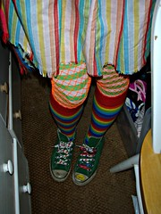 St. Patrick's Day legs (Megan is me...) Tags: blue red portrait orange color green colors smile up fashion rose yellow shirt self hair effects photography one diy clothing crazy rainbow eyes colorful neon pretty colours russell mckay bright cut unique awesome meg bart violet plum megan style nuclear special clothes kind fishbowl together iguana jerome colored tied piccolo tee mayhem simpson punky striped bleached kissmyass dyed stpatricksday napalm 2010 sfx rosered megface pogmothon meganisme bleachednapalmorange greenpiccolo