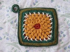 Golden Potholder - Front