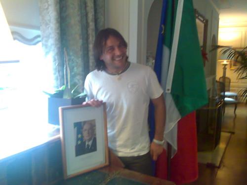 Daniele fra bandiera e Napolitano