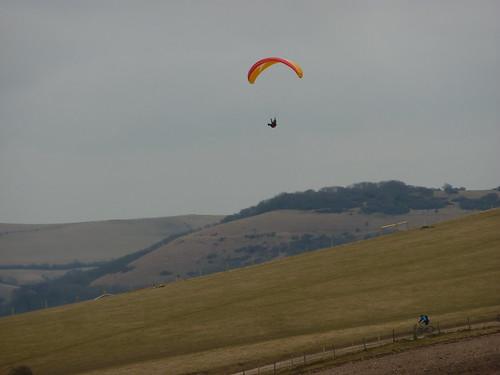 Paragliders and Cyclists
