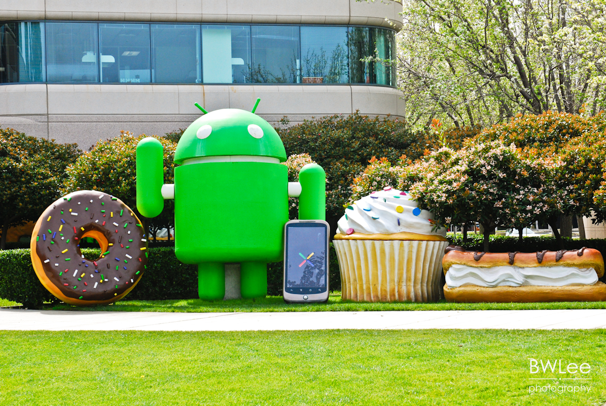 Overall display (Cupcake to Eclair, with Nexus One)