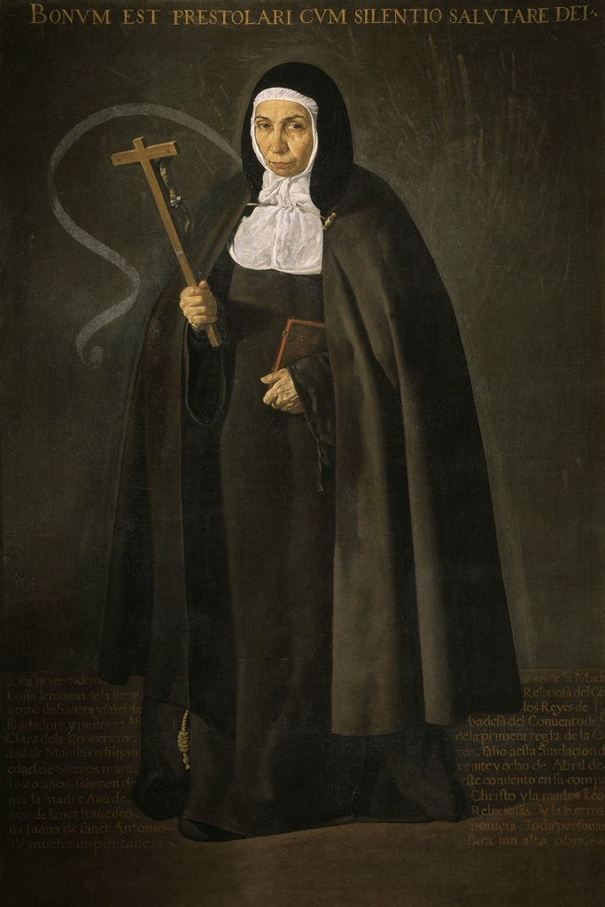 Diego Velázquez (Spanish, 1599-1660) La venerable madre Jerónima de la Fuente (c. 1620) Oil on canvas. 160 by 110 cm. Museo Nacional del Prado, Madrid.