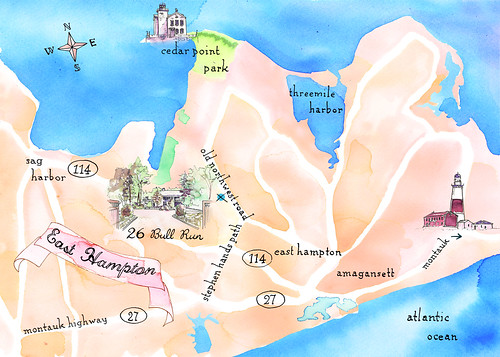 Hamptons wedding map