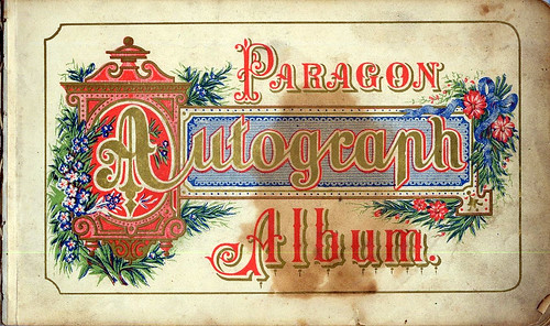 Victorian Autograph Album, Title Page