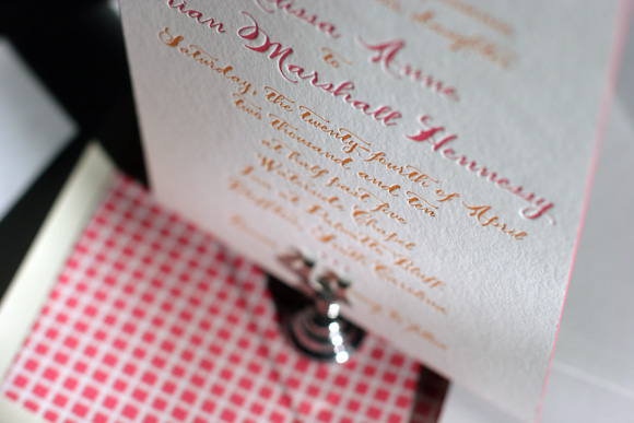 Haddington Letterpress Wedding Invitations