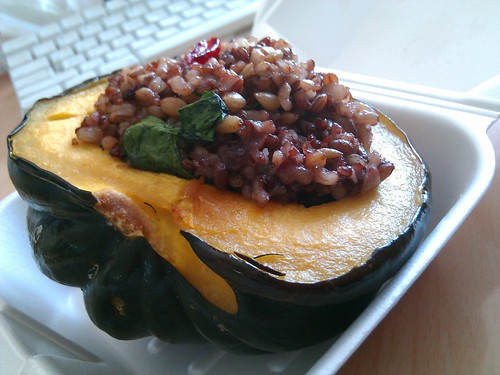 Stuffed Acorn Squash-Lakeside Cafe