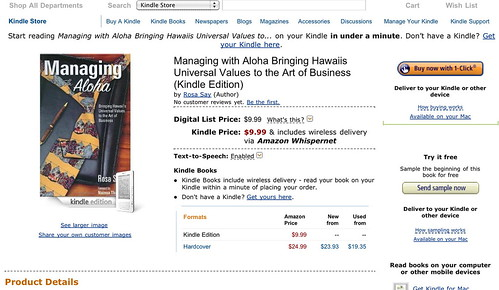 Managing with Aloha Kindle Product Page