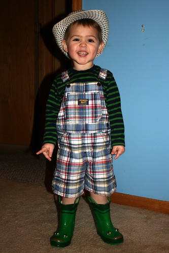 Caleb Dressed Himself