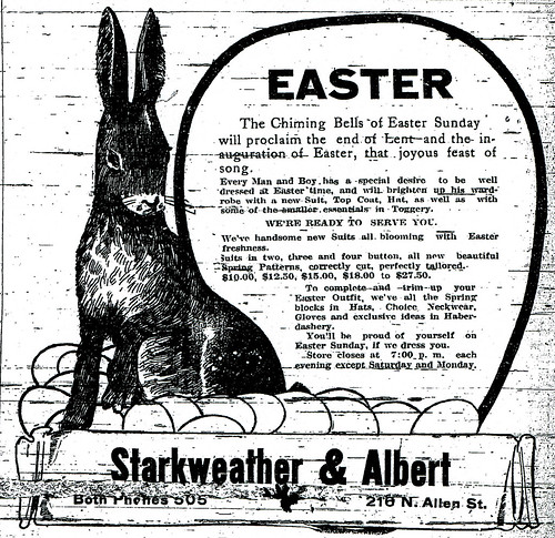 An Easter advertisement in the Joplin Globe