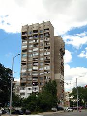 372  2007 . Sveta Troitsa resid. complex Block 372 Sofia Bulgaria (Balkanton) Tags: design modernism communist communism bulgaria socialist socialism modernist