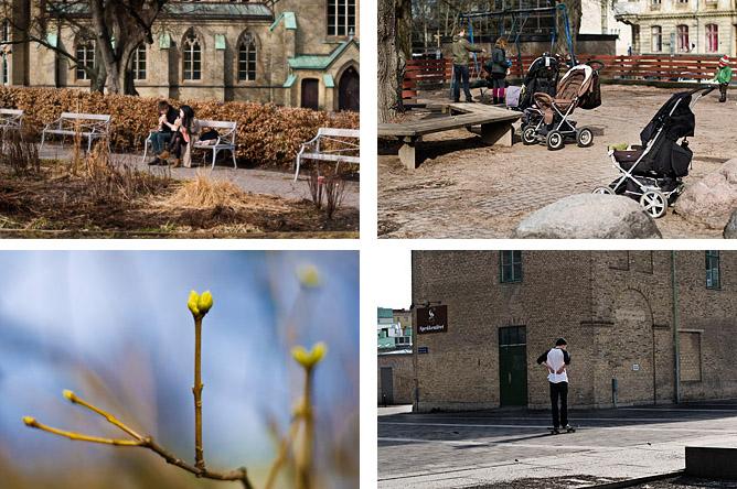 collage folk på stan