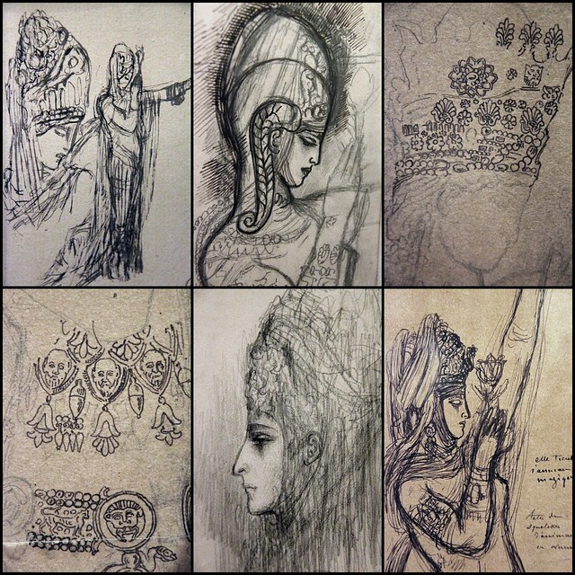 Sketches for Salome - collage