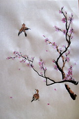 Plum and Sparrows