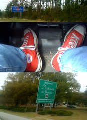 Drive (The Goat Whisperer) Tags: sign mississippi drive al triptych alabama converse taylor ms chuck allstars iphone