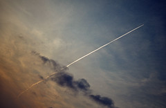 Rhythms From a Cosmic Sky (Sold for Parts) Tags: old blue cloud plane gradient vignette strafe