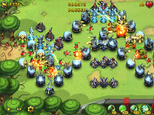 Screenshot Fieldrunners Grasslands iPad