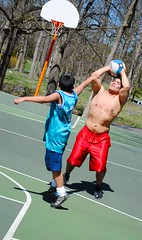 Hoop Daddy_01 (nemo_434) Tags: shirtless men basketball guys